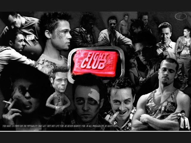 El Club de la Lucha - Composición con el reparto de la película
