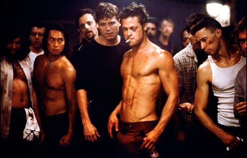 El Club de la Lucha - Imagen de una pelea en el sótano