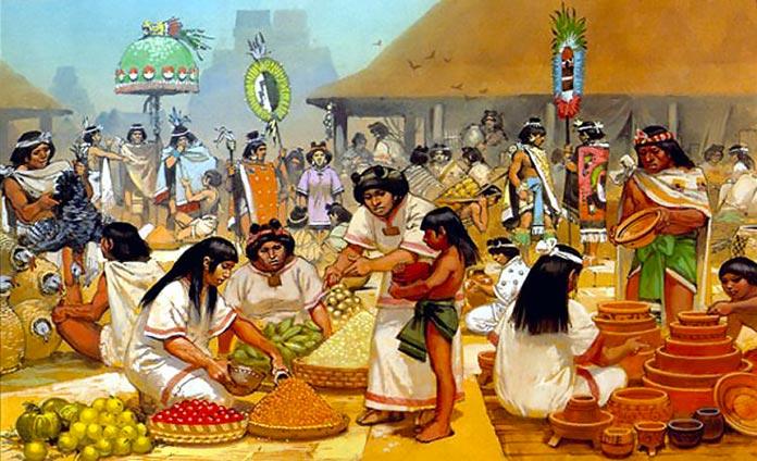 El comercio en la cultura Azteca