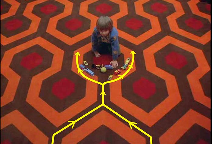 el resplandor - planos simetricos
