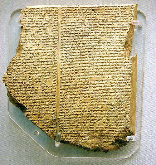 Tablilla sobre el diluvio de la epopeya de Gilgamesh