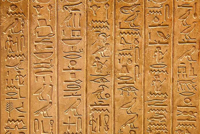 La escritura más antigua: escritura egipcia