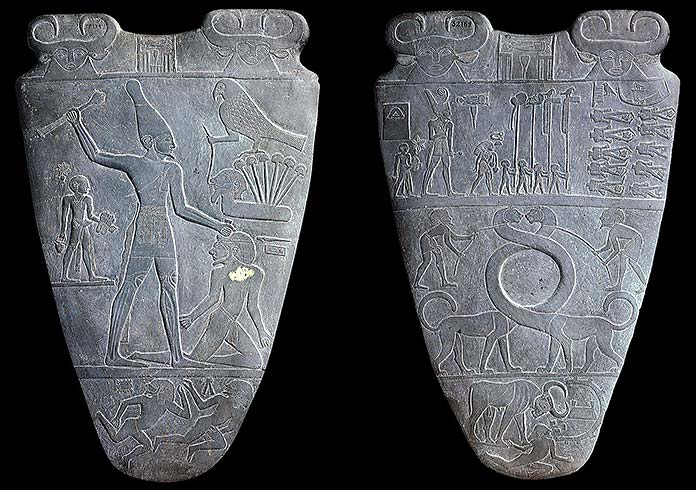 Escritura pictográfica - Paleta de Narmer