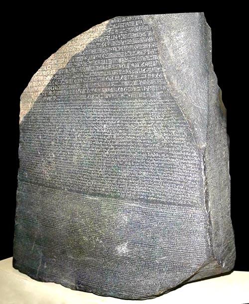 Escritura pictográfica - Piedra de Rosetta