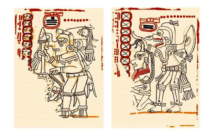 Escritura pictográfica - Códice maya