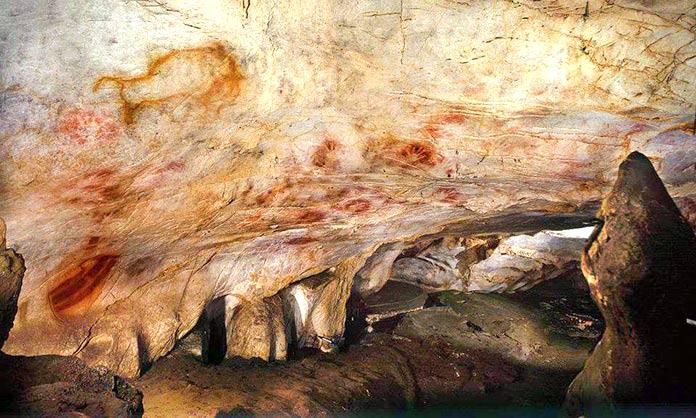 Escritura pictográfica - manos en las cuevas de Cantabria