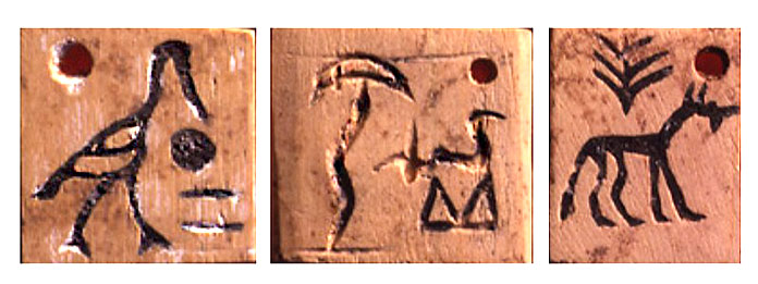 Escritura pictográfica - Tablilla de Abydos