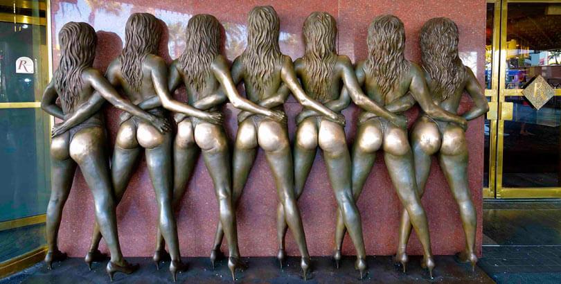 Estatua de las Crazy Girls Las Vegas