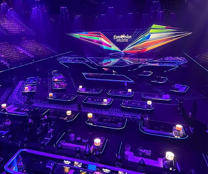 Escenario de Eurovision 2021 en Rotrerdam