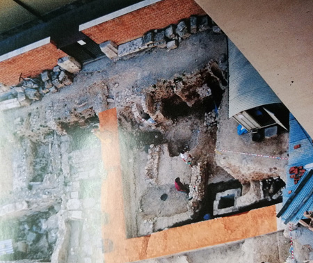 La excavación del edificio del Almudín