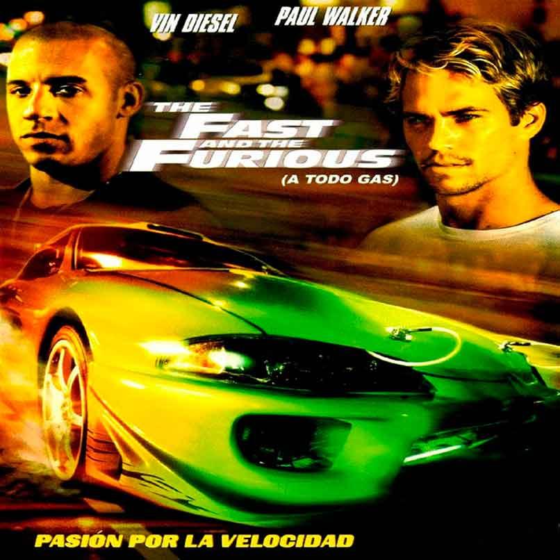 Cartel de la primera entrega de la saga Fast & Furious