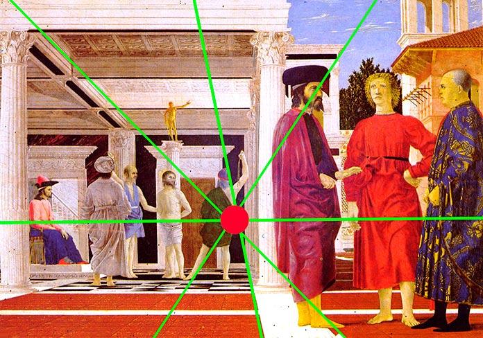 Perspectiva de La flagelación de Cristo