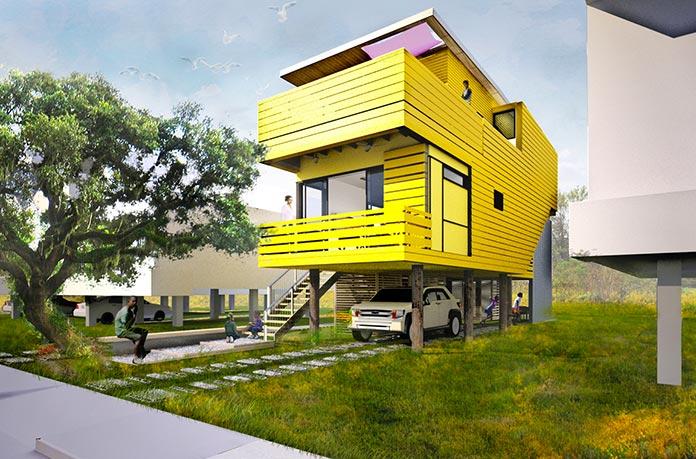"""Casa """"Flow House Design Concept"""". Nueva Orleans, Estados Unidos"""