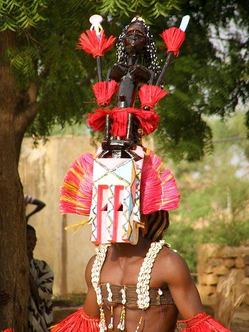 Máscara Satimbé-Sangha, del pueblo Dogón, Mali