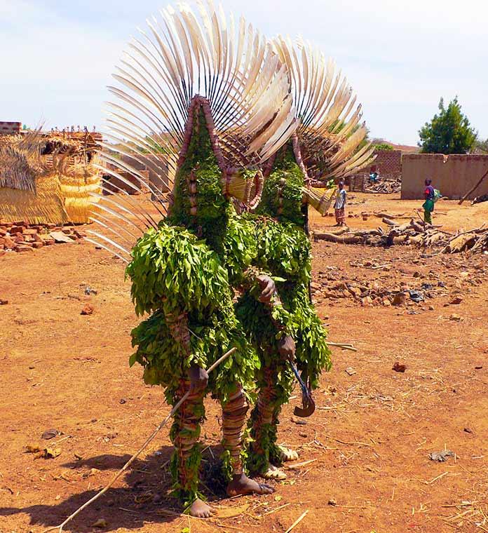 Máscaras de hojas del pueblo Bwa, Burkina Faso
