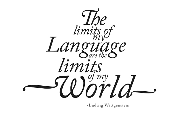 """Frase """"The limits of my language are the limits of my world"""""""