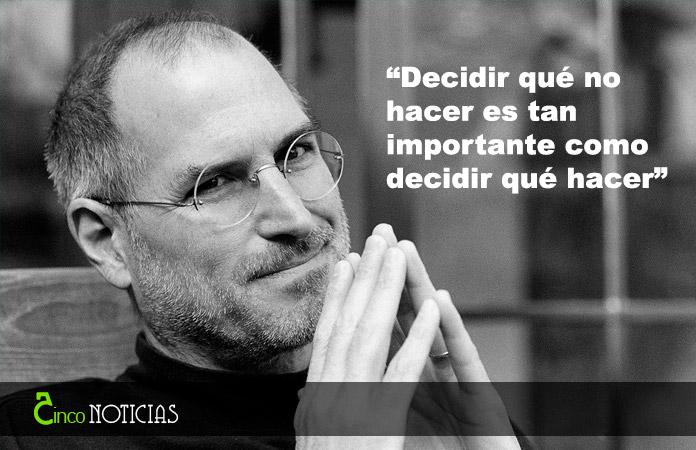 """""""Decidir qué no hacer es tan importante como decidir qué hacer"""""""