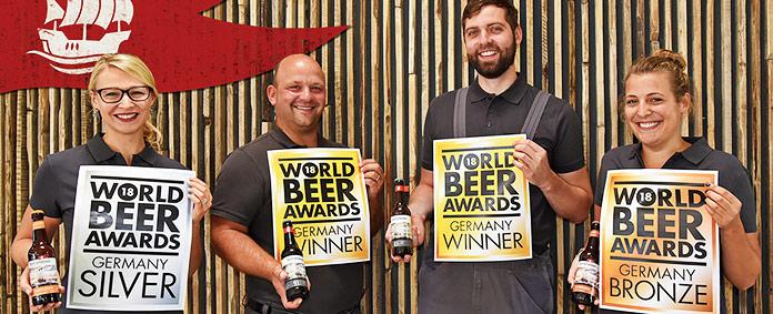 Ganadores del concurso World Beer Awards