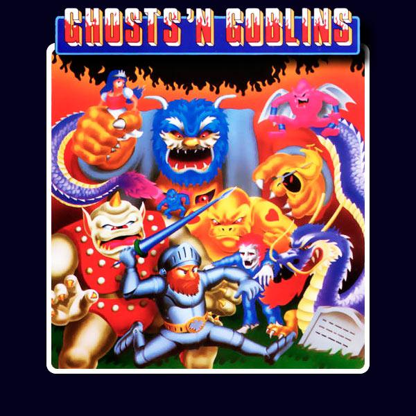 Carátula del juego arcade Ghosts'n Goblins