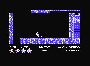 Fase del castillo superior del juego arcade Ghosts'n Goblins