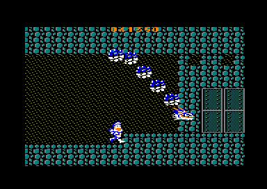 Fase de las cavernas en el juego arcade Ghosts'n Goblins