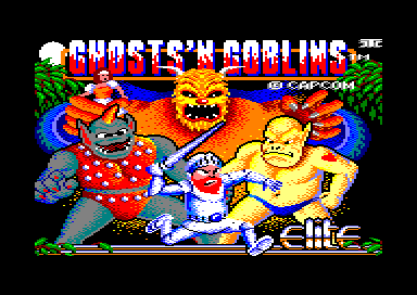 Pantalla de carga del juego arcade Ghosts'n Goblins