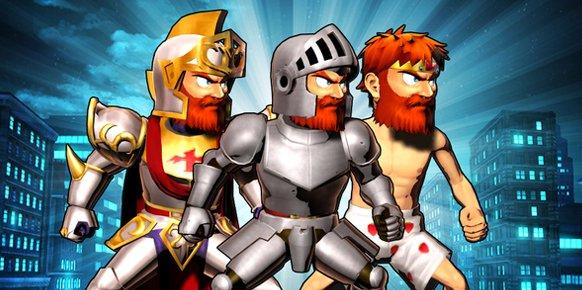 Ilustración de las armaduras de Sir Arthur del juego arcade Ghosts'n Goblins
