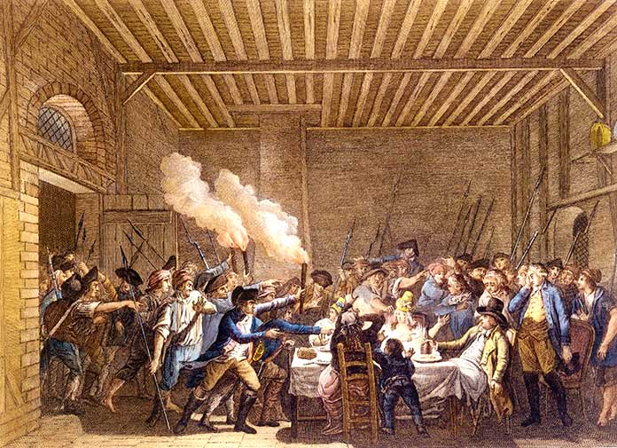 detención de Luis XVI y su familia en Varennes