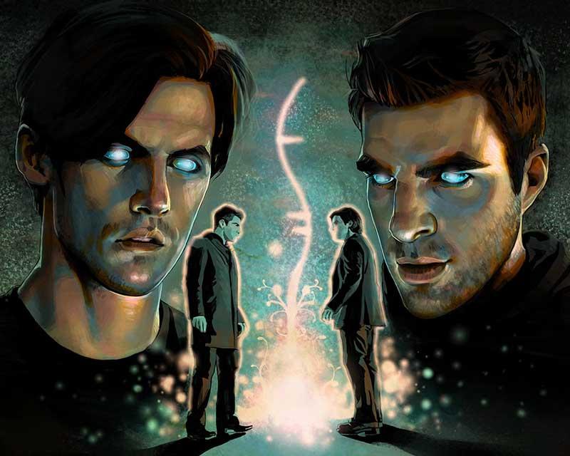 Ilustración de Isaac que recoge el símbolo de la serie Héroes