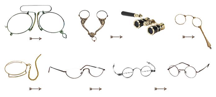 Historia de las gafas: modelos