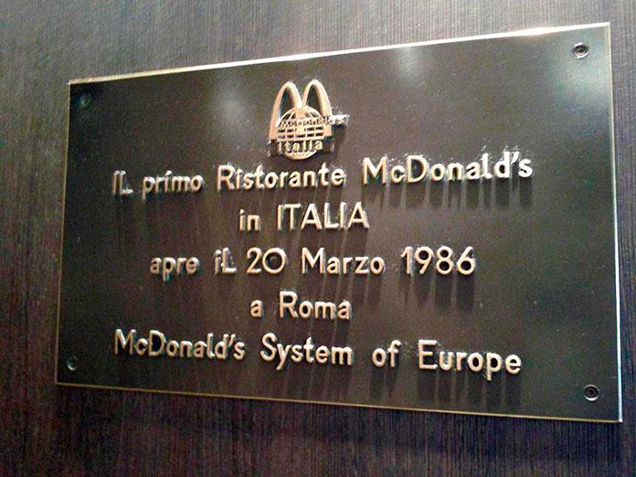 primer McDonald's abierto en Italia