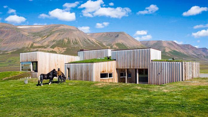 "Casa ""Hof Country Residence"". Skakafjordur, Islandia"