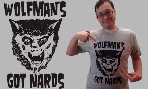 """Camiseta """"El hombre lobo tiene pelotas"""" homenaje a la película Una Pandilla Alucinante"""