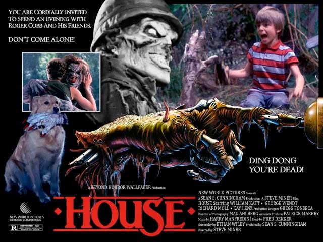 Cartel de la comedia de terror House, Una Casa Alucinante