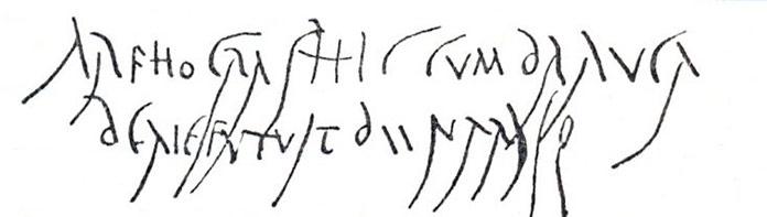 Inscripción en pared lupanar Antigua Roma