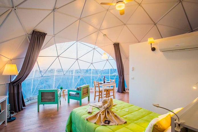 Interior del alojamiento Eco Dome Experience. Teguise, Lanzarote