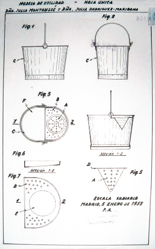 Primera patente de la fregona en España