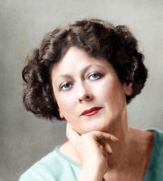Foto coloreada de Isadora Duncan