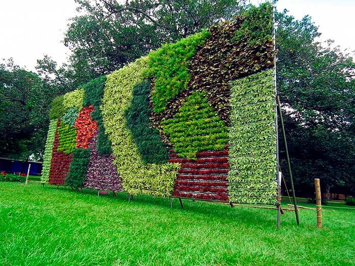 Jardín vertical de sustrato