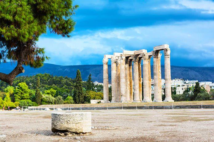 Antiguo templo de Zeus en Olympia, Atenas, Grecia