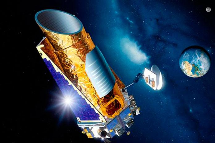 Ilustración del telescopio espacial Kepler