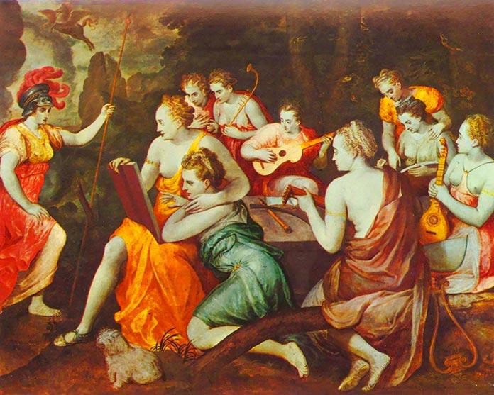 """""""Las 9 musas"""" (Frans Floris de Vriendt, 1560 / Condé-sur-l'Escaut, Francia)"""
