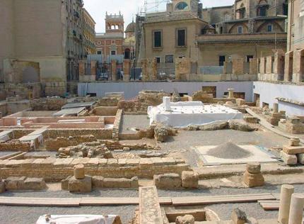 La excavación de la plaza de San Luis Beltrán