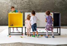 Muebles Stüda: no son de juguete, pero se usan para jugar con LEGO.