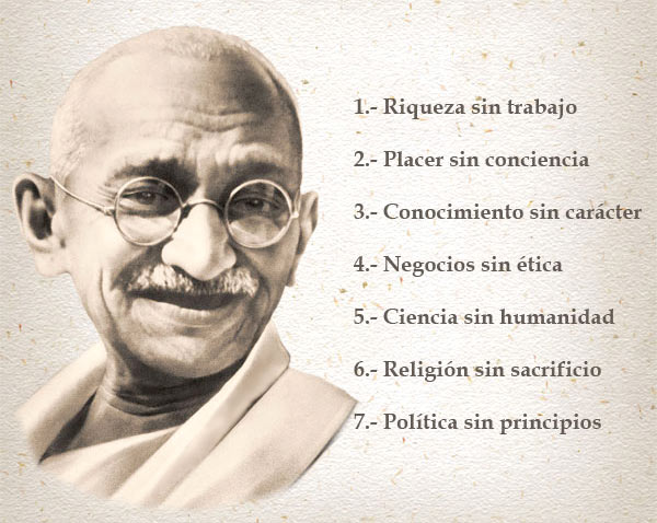 La reveladora lista de Gandhi