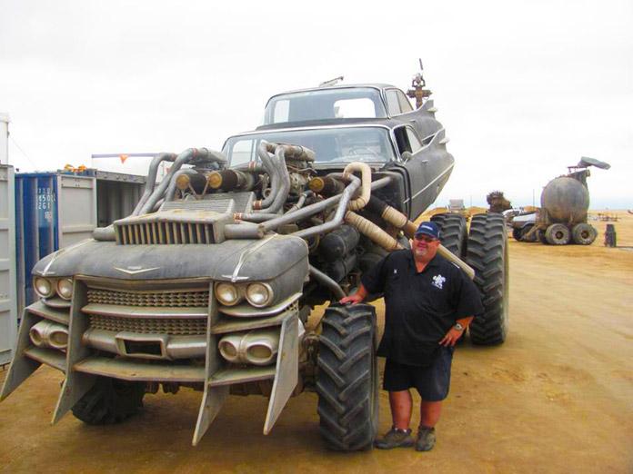Gigahorse, vista frontal del vehículo de Furiosa en Mad Max Fury Road