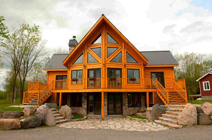 Casa de madera maciza