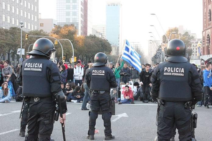 Manifestaciones + Agentes-Bridaga-Movil-Mossos-Esquadra