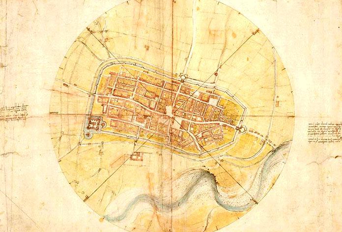 Mapa de la ciudad de Imola