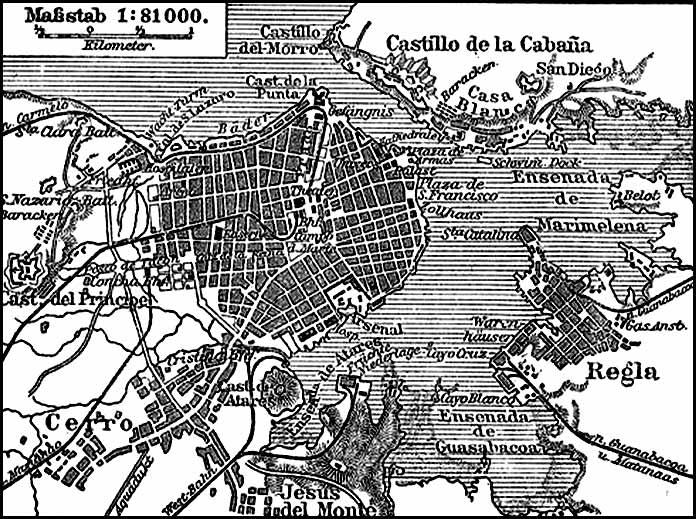 Mapa de La Habana